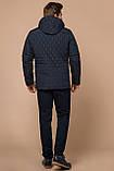 Стёганая зимняя куртка на мужчину синяя модель 24534, фото 5