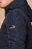Стёганая зимняя куртка на мужчину синяя модель 24534, фото 8