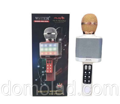 Бездротової Bluetooth Мікрофон Караоке Karaoke DM WS 1828 З Підсвічуванням