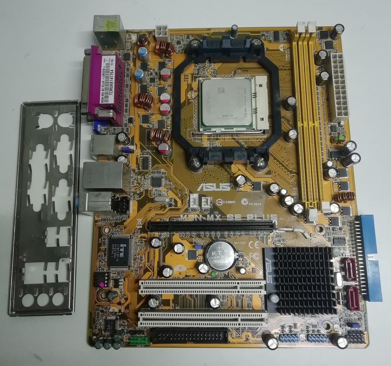 Материнська плата сокет AM2+ Asus M2N-MX вбудоване відео і процесор