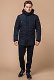 Синяя комфортная куртка мужская на зиму модель 44842 (ОСТАЛСЯ ТОЛЬКО 48(M)), фото 2