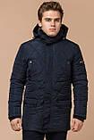 Синяя комфортная куртка мужская на зиму модель 44842 (ОСТАЛСЯ ТОЛЬКО 48(M)), фото 4