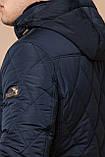 Синяя комфортная куртка мужская на зиму модель 44842 (ОСТАЛСЯ ТОЛЬКО 48(M)), фото 6