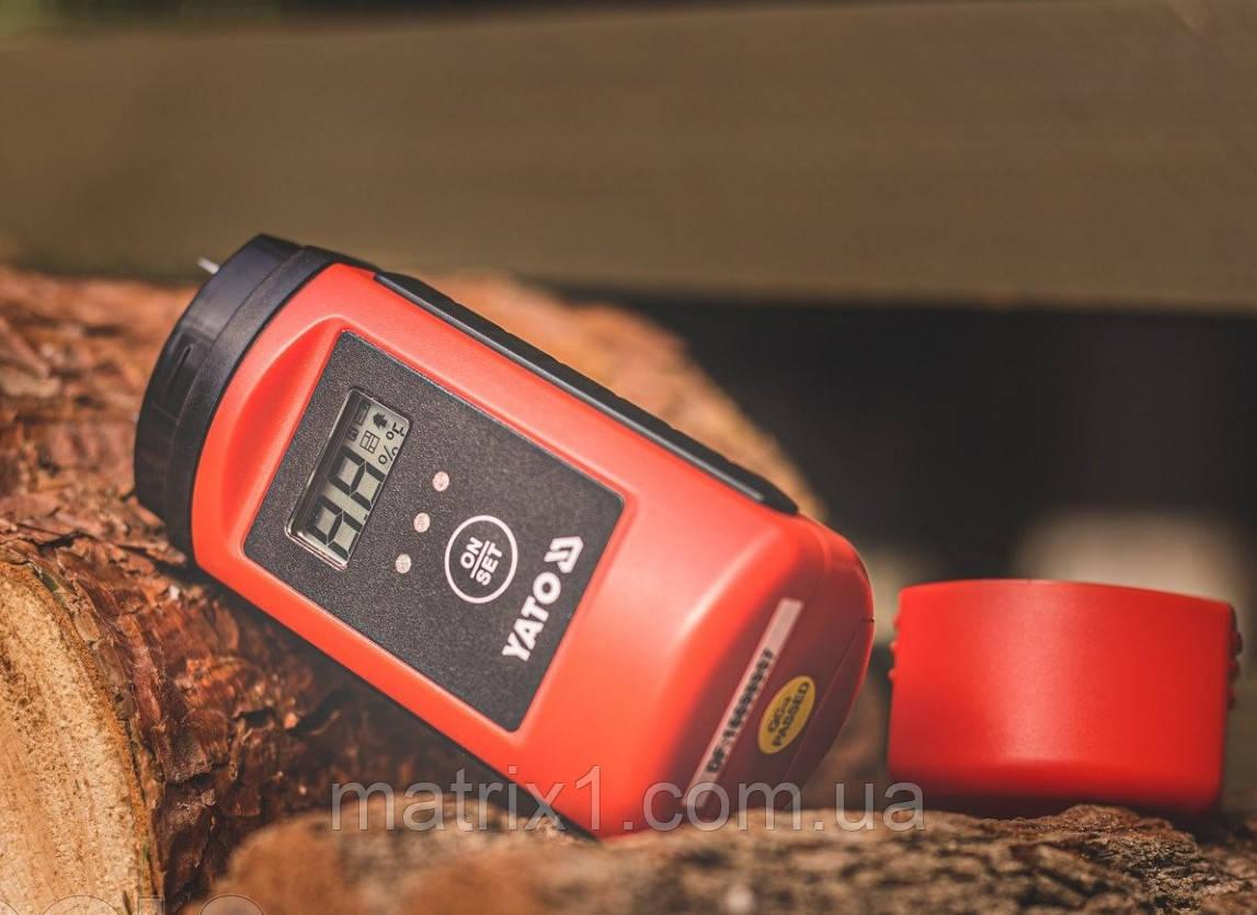 Влагомер для древесины и стойматериалов  YATO YT-73140