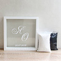 Набір для пісочної церемонії: Рамка з Вашим написом + пісок, фото 1