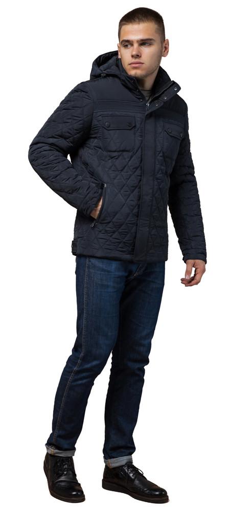 Мужская темно-синяя качественная куртка зимняя модель 1698