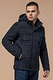 Мужская темно-синяя качественная куртка зимняя модель 1698, фото 4