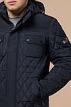 Мужская темно-синяя качественная куртка зимняя модель 1698, фото 6