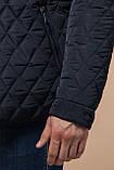Мужская темно-синяя качественная куртка зимняя модель 1698, фото 7