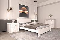 Кровать деревянная Ника (ольха массив) от производителя. Кровати из дерева. Кровать для спальни из дерева.