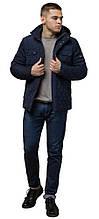 Зимняя мужская куртка комфортного кроя синяя модель 1698 (ОСТАЛСЯ ТОЛЬКО 46(S))