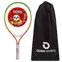 Алюмінієва тенісна ракетка для великого тенісу дитяча (7-8 років) 23дюймаODEAR Помаранчевий (BT-5508-23)