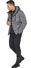Куртка – воздуховик пепельный зимний на молнии мужской модель 15078