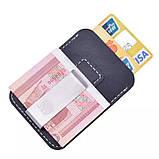 Мужской кожаный зажим для денег. Натуральная кожа ЕК59, фото 7