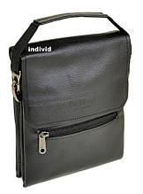 Кожаная мужская сумка Bond. Кожаная Сумка планшет Бонд Размер 27*23*7см. ГС01