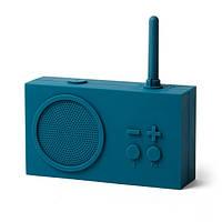 Bluetooth колонка с радио Lexon Tykho 3, темно-синяя, фото 1