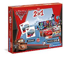 """Ігровий набір Пазли 2 в 1 """"Clementonі"""" Тачки, в коробці 13731"""