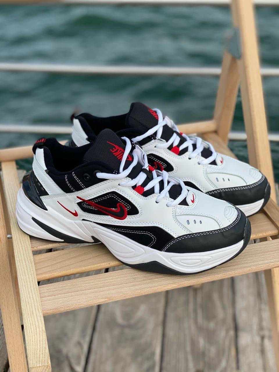 Женские кроссовки Nike M2K White Black Red