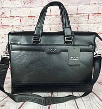 Мужская сумка-портфель Polo под формат А4. Сумка для документов. КС61