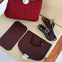Набор для рюкзака экокожа Хаки МАКСИ (10 позиций-Оливковый) фурнитура серебро, фото 6