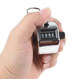 Ручний 4-розрядний лічильник, 0000-9999, фото 3