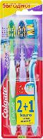 Зубная щетка Colgate Зиг Заг средней жесткости (2+1) Colgate 3 шт.