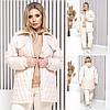 Куртка жіноча великий розмір 2939 (44-46,48-50,52-54,56-58) (кольори: молоко, чорний, хакі, мокко) СП