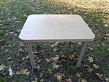 Стол пластиковый прямоугольный 100х80 см