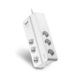 Мережевий фільтр 220v (2м) APC (6 розеток) PM6-RS White