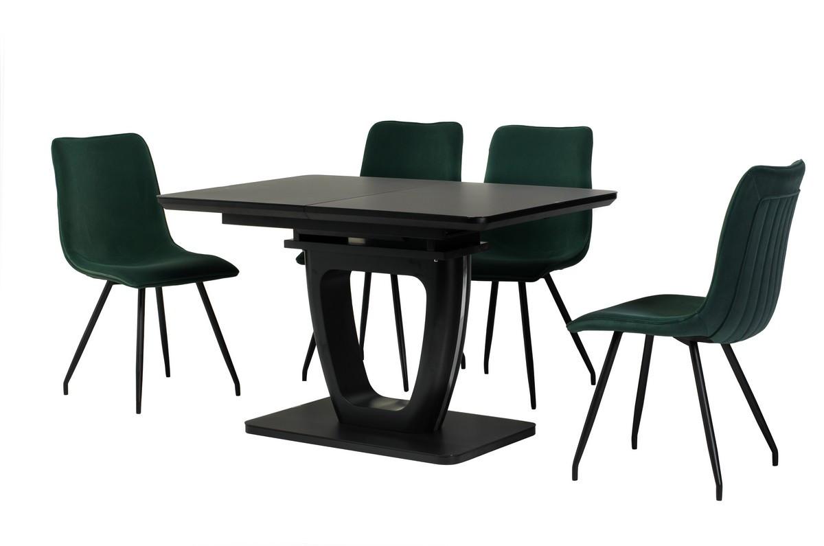 Стол МДФ+матовое стекло TML-560 черный