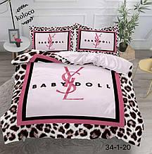 Комплект постельного  белья  двухсторонний Бебидол Сатин Эксклюзив Премиум качество   Евро размер Леопардовый
