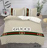 Комплект постельного  белья двухсторонний Гермес Сатин Эксклюзив Премиум качество   Евро размер Леопардовый, фото 5