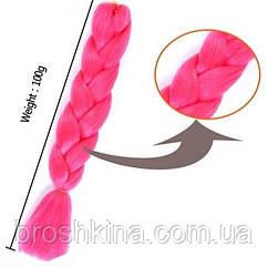 Канекалон ярко-розовый 60 см в плетении