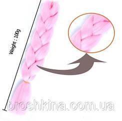 Канекалон світло-рожевий 60 см в плетінні
