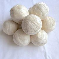 Нитки, пряжа акриловая для вязания, цвет белый всего 1,3 кг