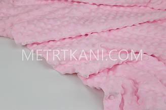 Плюш Minky світло рожевий 350 г/м2 № м-6