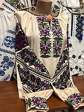 Дизайнерська жіноча вишиванка із довгими пишними рукавами «Талісман»