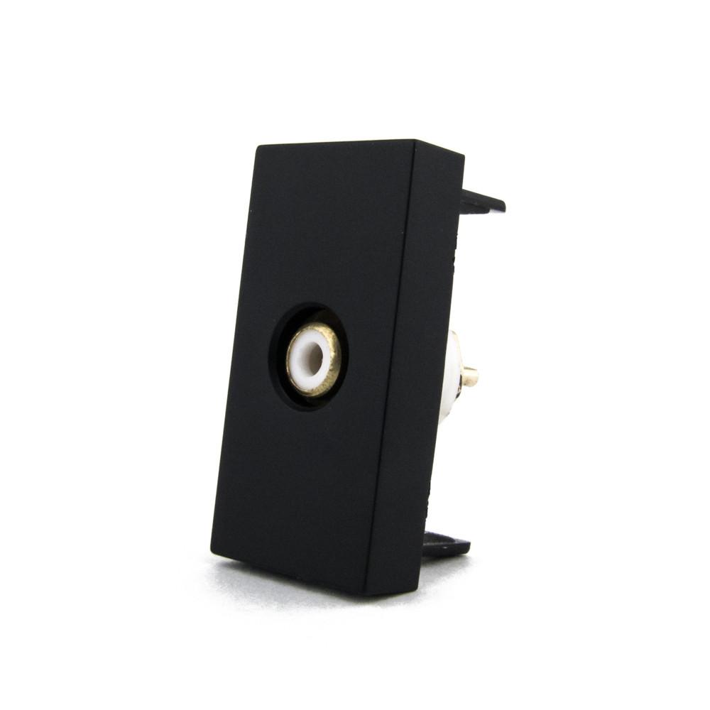 Механізм розетка RCA відео Livolo чорний (VL-C7-1VD-12)