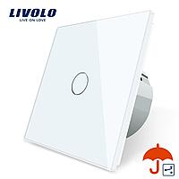 Сенсорний прохідний маршовий перехресний вимикач Livolo для вулиці IP44 білий (VL-C701S-IP-11)