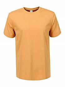 Чоловіча однотонна помаранчева футболка
