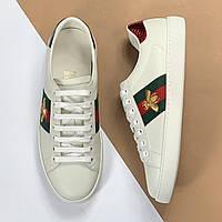 Мужские кроссовки с вышивкой Ace Gucci (Гуччи) арт. 40-05