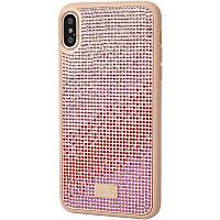"TPU чехол Bling World Rainbown Design для Apple iPhone X / XS (5.8"") Розовый"