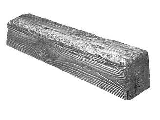 Декоративная балка Decowood Рустик EQ007 60х90х4000 мм Светлое дерево Серый