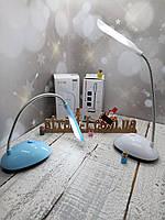 Настольная лампа светодиодная на батарейках типа ААА, маленькая компактная настольный LED светильник