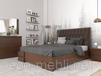"""Двоспальне ліжко ARBOR DREV"""" Камелія Люкс""""  з підйомником висота спинки (104)  180*190(200), бук"""