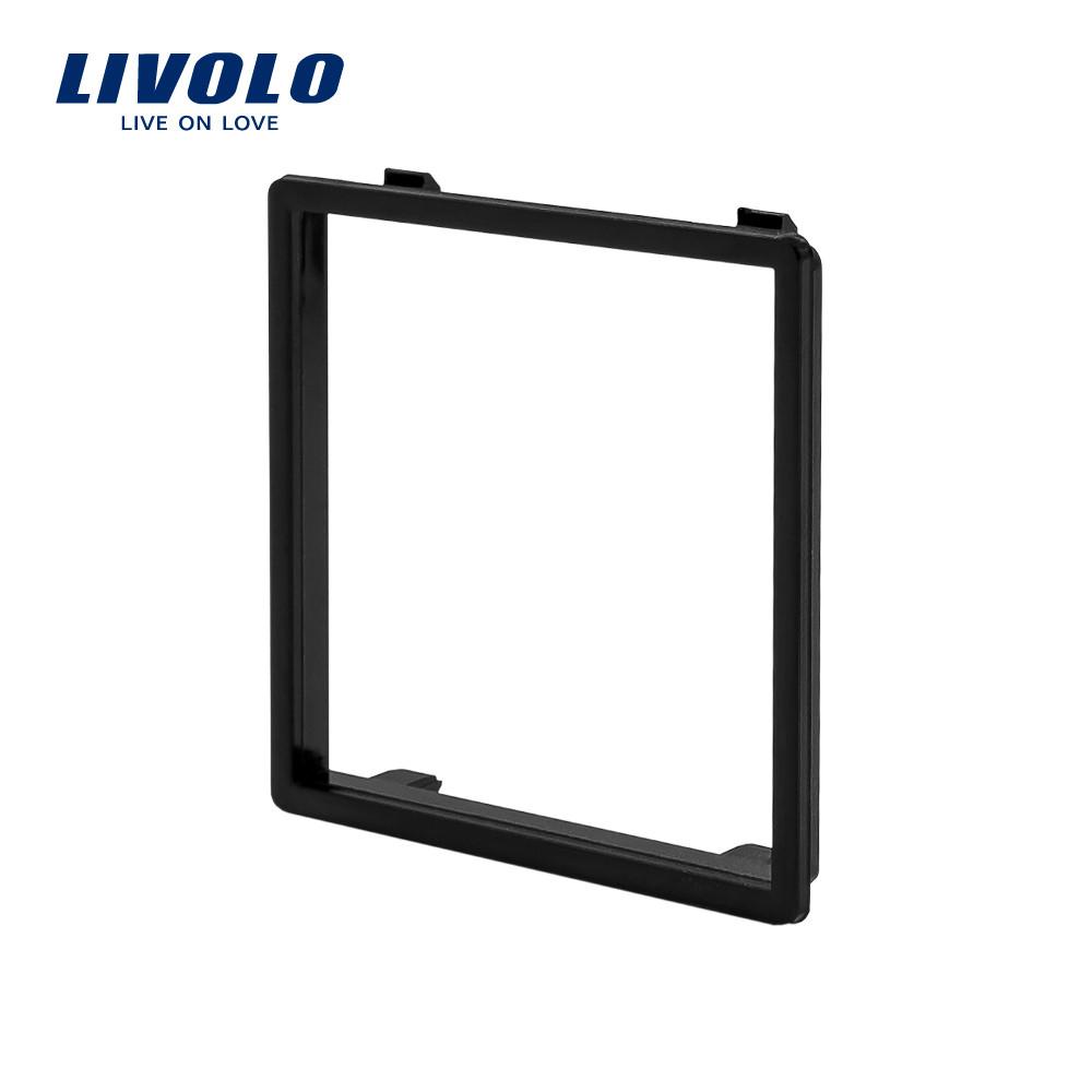 Ободок розетки Livolo черный (VL-DF101-12)
