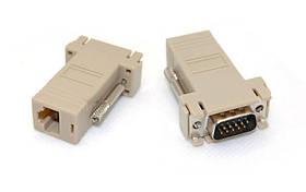Подовжувач VGA по RJ45 витій парі до 30м UTP тато-тато