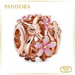 Пандора Ажурная подвеска Розовая маргаритка Rose Pandora 788772C01