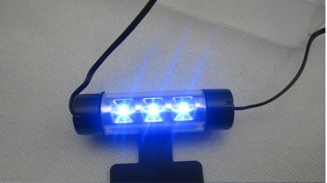 Декоративная 4x3 LED синяя подсветка салона автомобиля