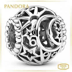 Пандора Ажурный шарм Солнце, звезды и луна Pandora 799183C00